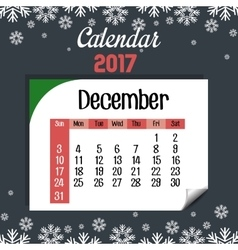 calendar 2017 template icon vector image