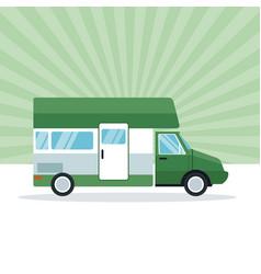 Caravan recreational bus vector