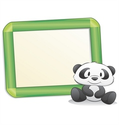 cartoon panda with frame vector image