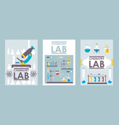 chemistry lab banners vector image