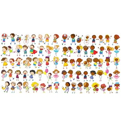Children cultural vector