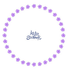 circle floral frame vector image
