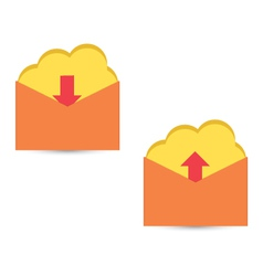 Cloud download and upload icon 34 vector