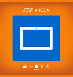 Computer tablet with blank screen icon vector