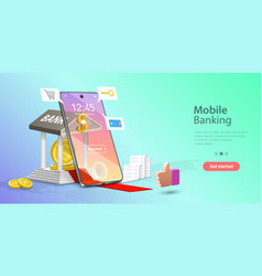 Concept mobile banking and vector