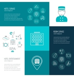 Concept of hotel service entertainment vector