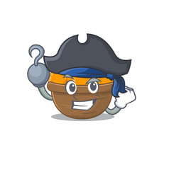 Cool orange fruit basket in one hand pirate vector