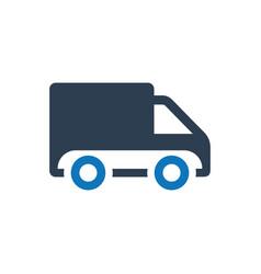 Courier service icon vector