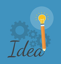 Creativity inspiration concept Flat design vector image