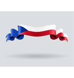 Czech wavy flag vector image