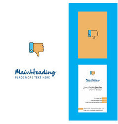 dislike creative logo and business card vertical vector image