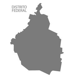 Distrito federal mexico map grey vector