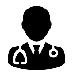 Doctor Physician Stethoscope Medical Icon vector