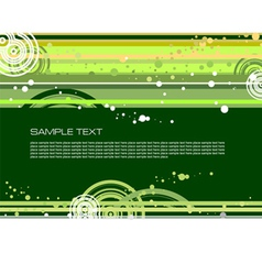 Doted green background vector
