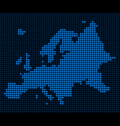 Dotted pixel europe map vector