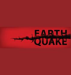 earthquake banner vector image