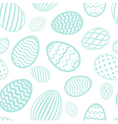 easter egg seamless pattern pastel color holiday vector image