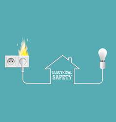 electrical safety hazards poster banner vector image