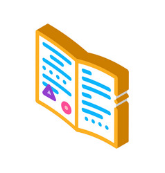 Exchange card documents isometric icon vector