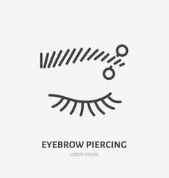Eyebrow piercing line icon pictogram of vector