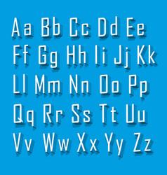 font 3d set letter vector image