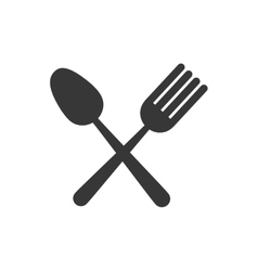 fork spoon cutlery icon graphic vector image