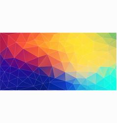 fresh color triangle wallpaper vector image