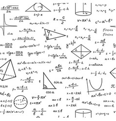 geometric shapes with mathematical formulas vector image