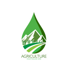 green agriculture under mountain vector image