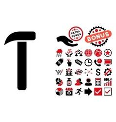 Hammer Flat Icon with Bonus vector image