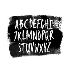 hand drawn alphabet uppercase letters vector image