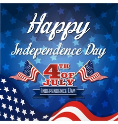 Happy independence day celebration greeting card vector image