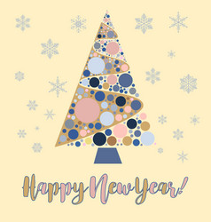 happy new year background snowflake winter design vector image