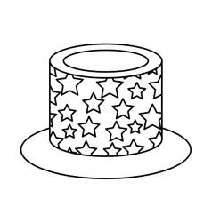 Hat birthday isolated icon vector
