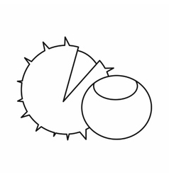 Hazelnuts icon outline style vector