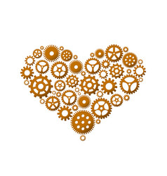 heart made of gears vector image