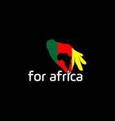 Helping hands for africa logo logo design vector