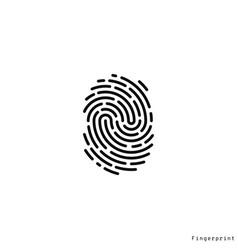 human fingerprint vector image