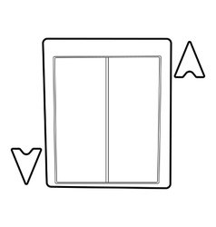 Lift icon outline style vector image