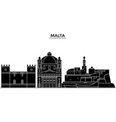 malta architecture city skyline travel vector image