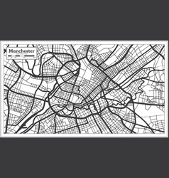 Manchester great britain city map in black and vector