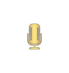 Microphone computer symbol vector image