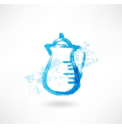 Milk jug grunge icon vector