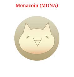 Monacoin mona logo vector