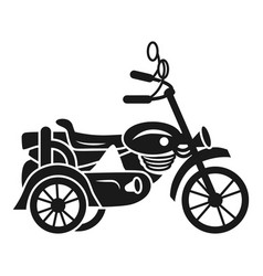 motorbike carriage icon simple style vector image
