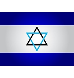 National flag of Israel vector