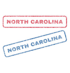 North carolina textile stamps vector