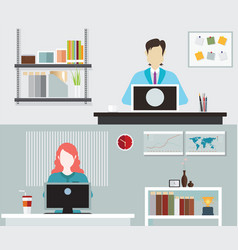 office people working vector image