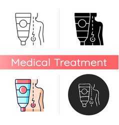 Ointment for back pain icon vector
