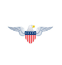 patriot wings american flag badge shield with vector image